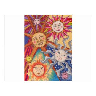 Happy suns postcard