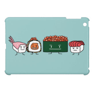 Happy Sushi Brothers rice Japanese shrimp salmon Case For The iPad Mini