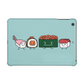 Happy Sushi Brothers rice Japanese shrimp salmon iPad Mini Retina Cover