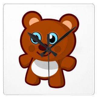 HAPPY TEDDY BEAR WALL CLOCK