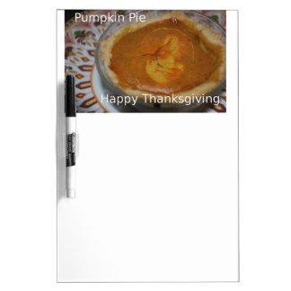 Happy Thanksgiving And Pumpkin Pie Dry-Erase Whiteboards