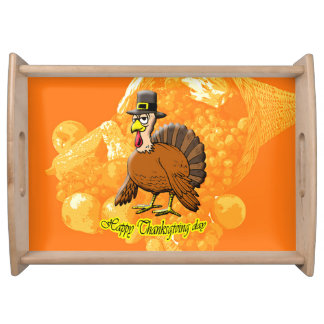 Happy Thanksgiving day serving tray. Serving Platter