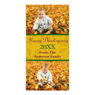 Happy Thanksgiving Gold 2 Photos - Photo Card