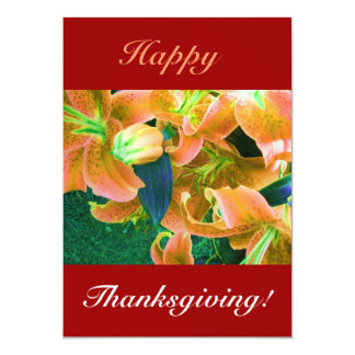 "Happy Thanksgiving II 5"" X 7"" Invitation Card"