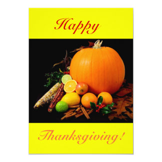 Happy Thanksgiving VI With Pumpkin And Fruit Card