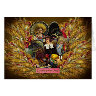 Happy Thanksgiving! Vintage Style Greeting Card