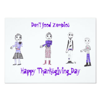 Happy Thanksgiving Zombie Card