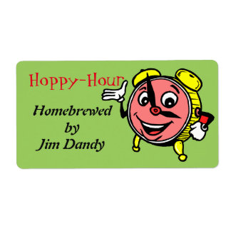 Happy to Hoppy Hour Beer Homebrewing Custom Label Shipping Label