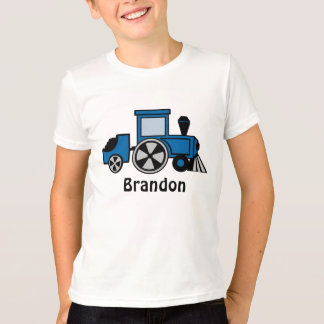 Happy Tracks/ Blue Train Engine T-Shirt