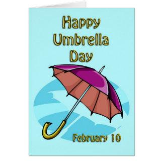 Happy Umbrella Day February 10 Card