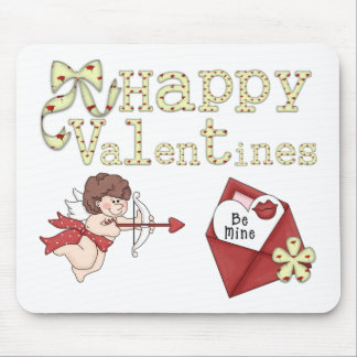 Happy Valentines Be Mine Mouse Pad