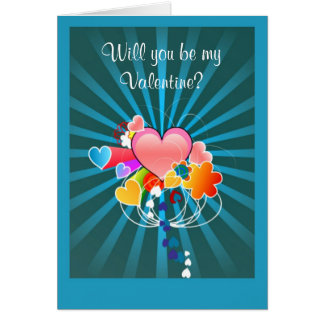 Happy Valentine's Day from secret admirer hearts Greeting Card