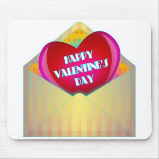 """""""HAPPY VALENTINE'S DAY"""" GREETING CARD MOUSE PAD"""