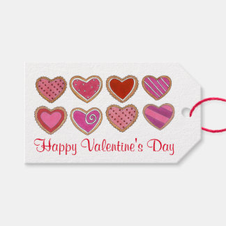 Happy Valentine's Day Heart Hearts Cookie Gift Tag