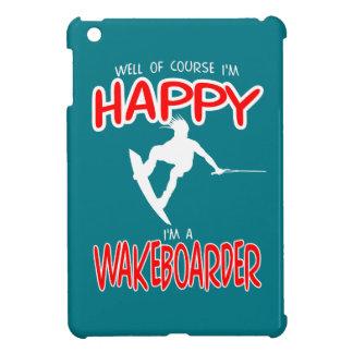 HAPPY WAKEBOARDER (white) iPad Mini Covers