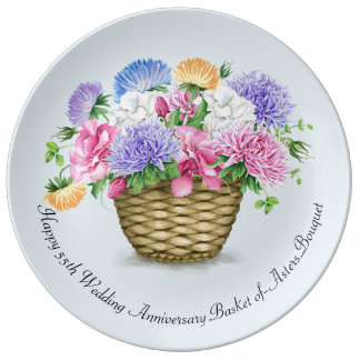 Happy Wedding Anniversary  Porcelain Plate