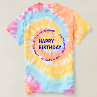 HAPPYbirthday birthday Men's Spiral Tie-Dye tshirt