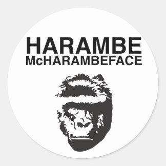 Harambe McHarambeface Round Sticker