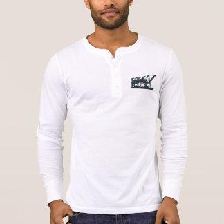 Harbor Cranes Long-sleeve Henley T-shirt