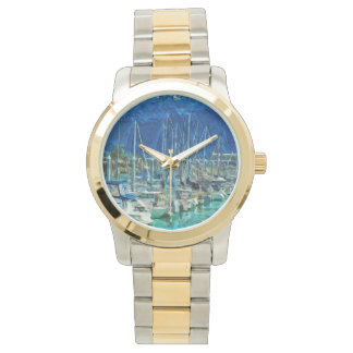 Harbor of Seward Alaska Abstract Impressionism Watch