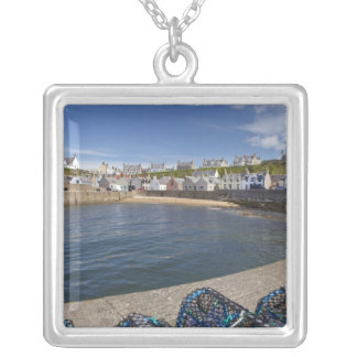 Harbour, Findochty, Moray, Scotland, United Silver Plated Necklace