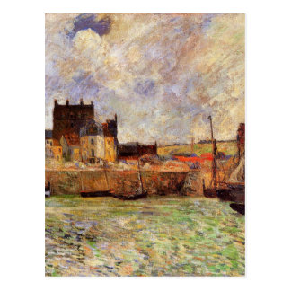 Harbour Scene, Dieppe by Paul Gauguin Postcard