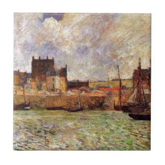 Harbour Scene, Dieppe by Paul Gauguin Tile