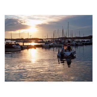 Harbour sunset postcard
