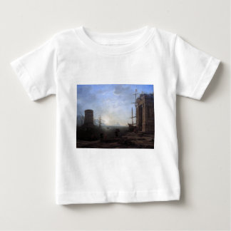 Harbour view at sunrise by Claude Lorrain Baby T-Shirt