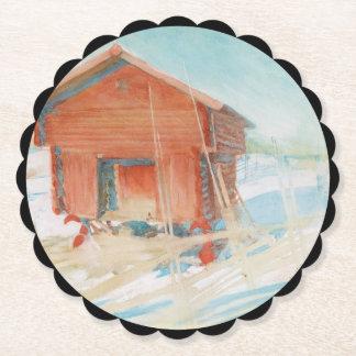 Harbre i Vintersol Paper Coaster