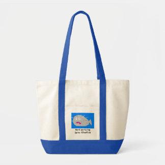 Hard-partying Spiny Blowfish Tote Bag