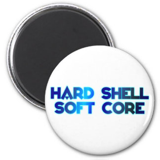 hard shell softly core 6 cm round magnet
