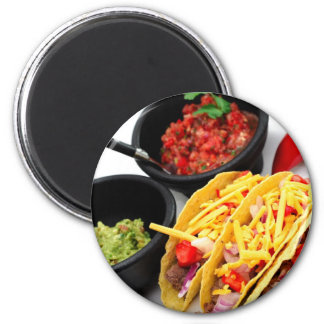 Hard Shell Taco's 6 Cm Round Magnet