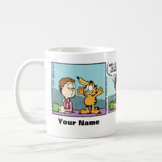 """Hard to be Serious"" Garfield Comic Strip Coffee Mug"