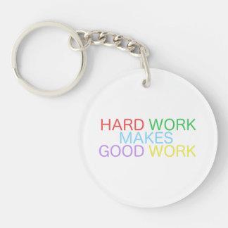 Hard Work Makes Good Work Key Ring
