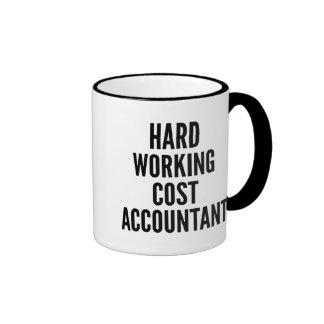 Hard Working Cost Accountant Ringer Mug