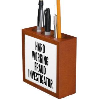 Hard Working Fraud Investigator Desk Organizers