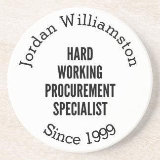 Hard Working Procurement Specialist Coaster