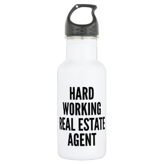 Hard Working Real Estate Agent 532 Ml Water Bottle