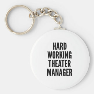 Hard Working Theater Manager Basic Round Button Key Ring