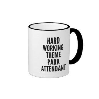 Hard Working Theme Park Attendant Ringer Mug