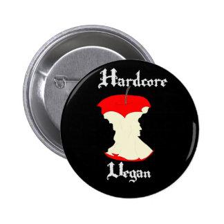 Hardcore Vegan Apple Design Pinback Button