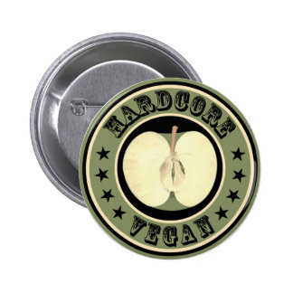 Hardcore Vegan 6 Cm Round Badge