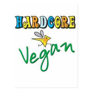 Hardcore Vegan Postcard