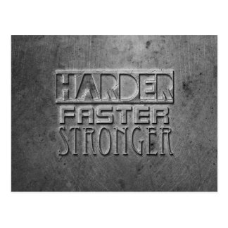 Harder Faster Stronger Postcard