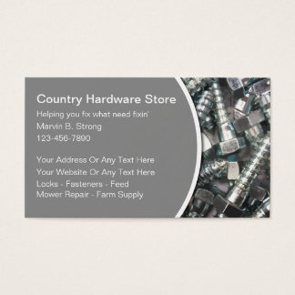 Hardware Store Business Cards
