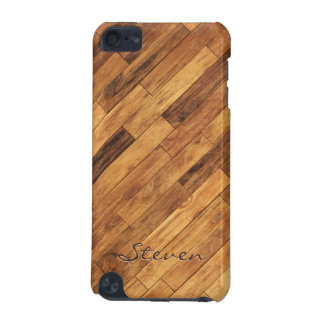 Hardwood Wood Grain Floor - Personalized Name iPod Touch (5th Generation) Covers