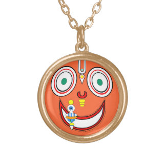 Hare Krishna Gold Plated Necklace