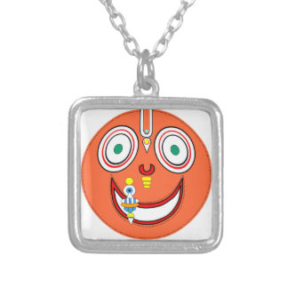 Hare Krishna Silver Plated Necklace