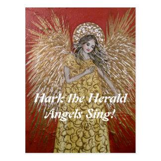 Hark the Herald Angels Christmas Postcard
